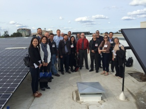 Early Adopters on the roof of 16 Powerhouse