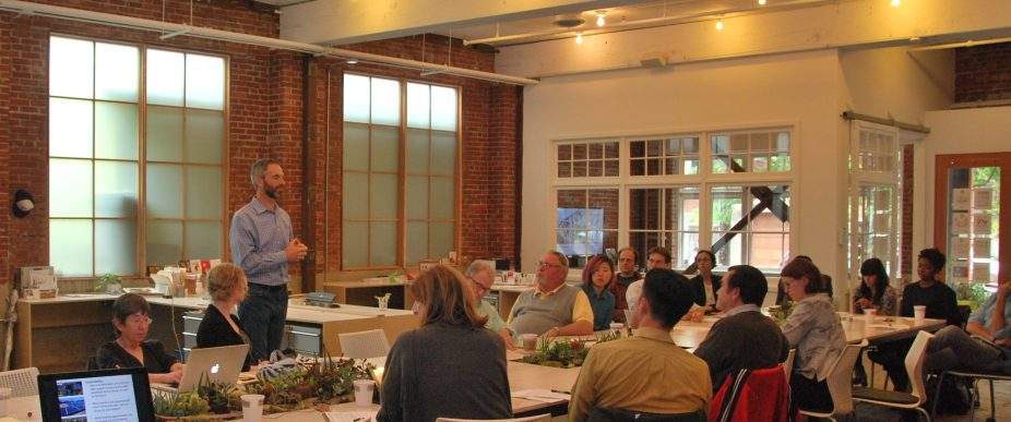 Advancing Adaptive, Affordable, Green Development - half day workshop for community leaders sponsored organized by Heather Flint Chatto and the Division Design Initiative.