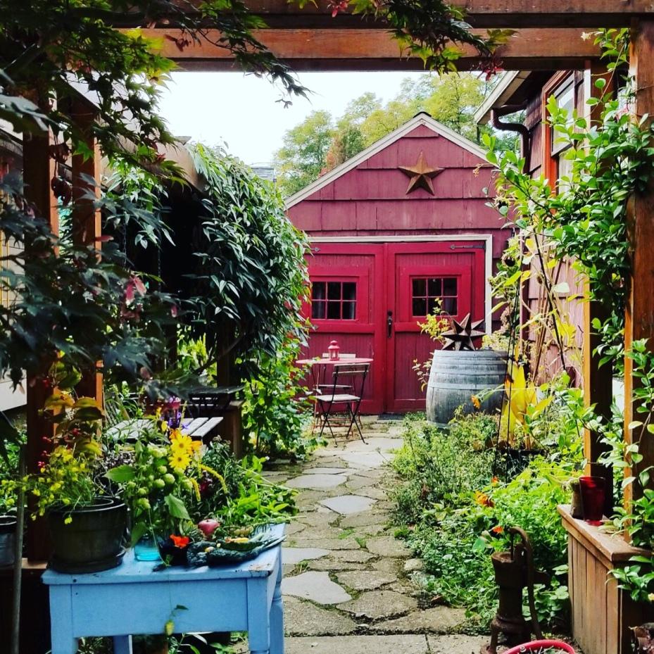 forage garden and trellis